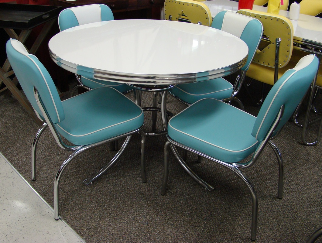 Chrome Dinette Chairs cool retro dinettes